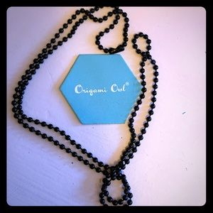 "Origami Owl- 30"" BLACK CLASSIC BALL CHAIN"